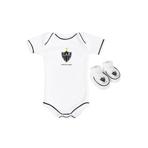 Kit 2 Peças - Body Manga Curta Branco - Torcida Baby