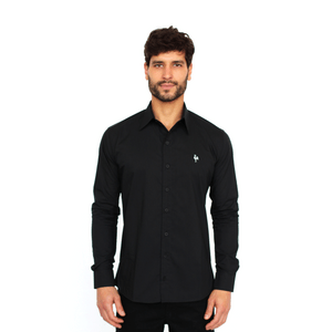 Camisa Social Masculina Galo Volpi - Preta